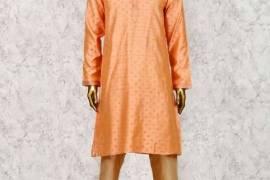 Peach Hue Festive Wear Cotton Silk Kurta Suit